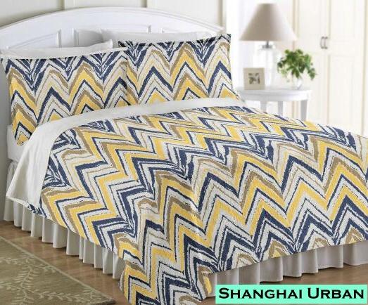 Vintage Mediterranean Design Cotton Printed Duvet Cover Home Textile