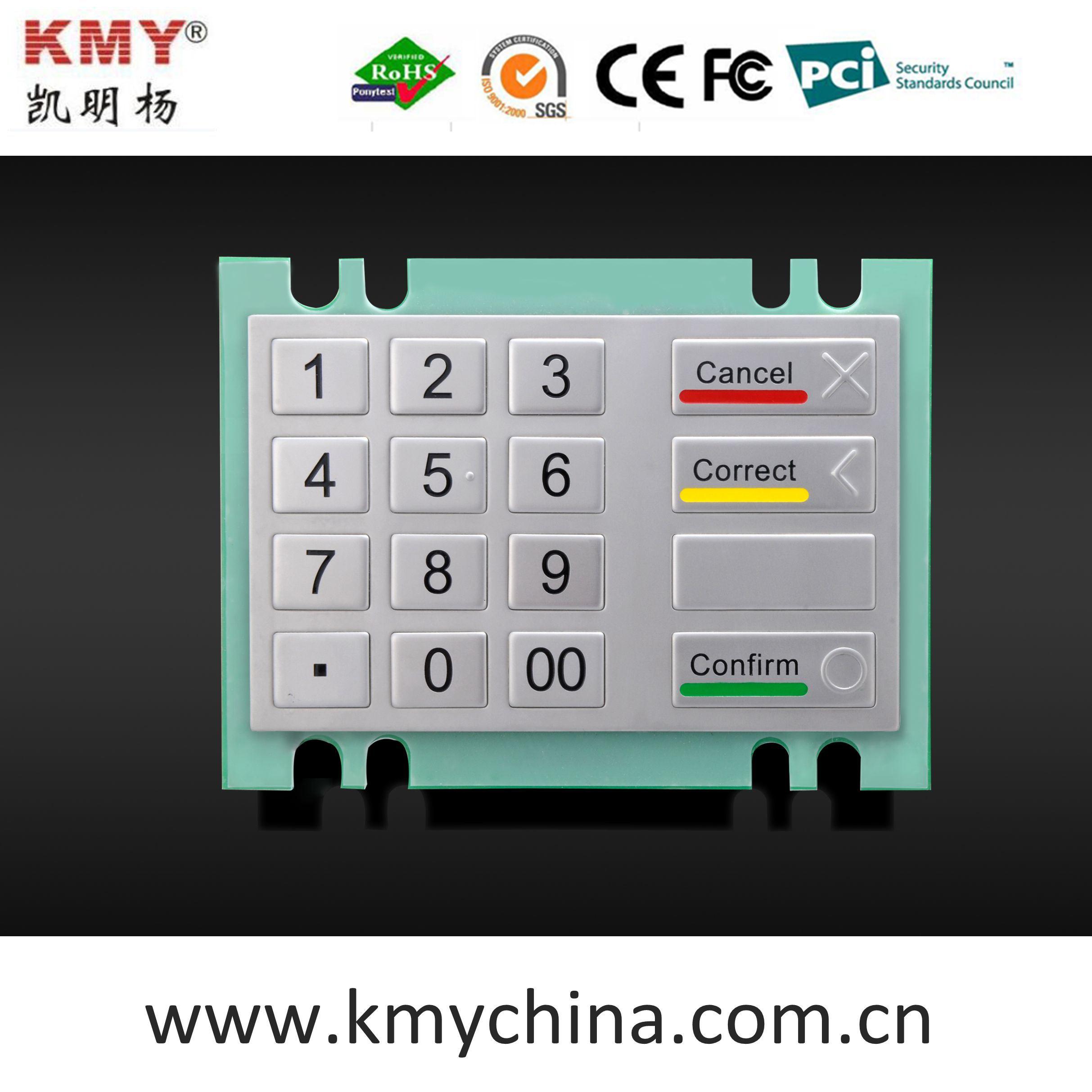 Hot Sale Waterproof Metal Numeric Keypad for Kiosk (KMY3503A)