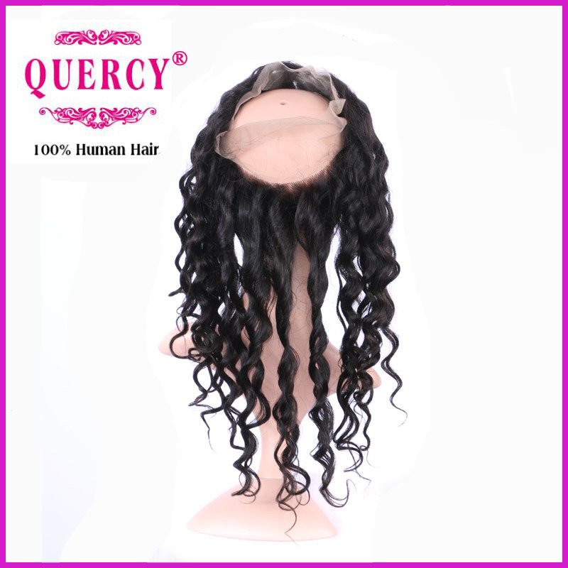 Loose Wave Virgin Peruvian Human Hair Lace Frontal Top Quality 360 Lace Frontal