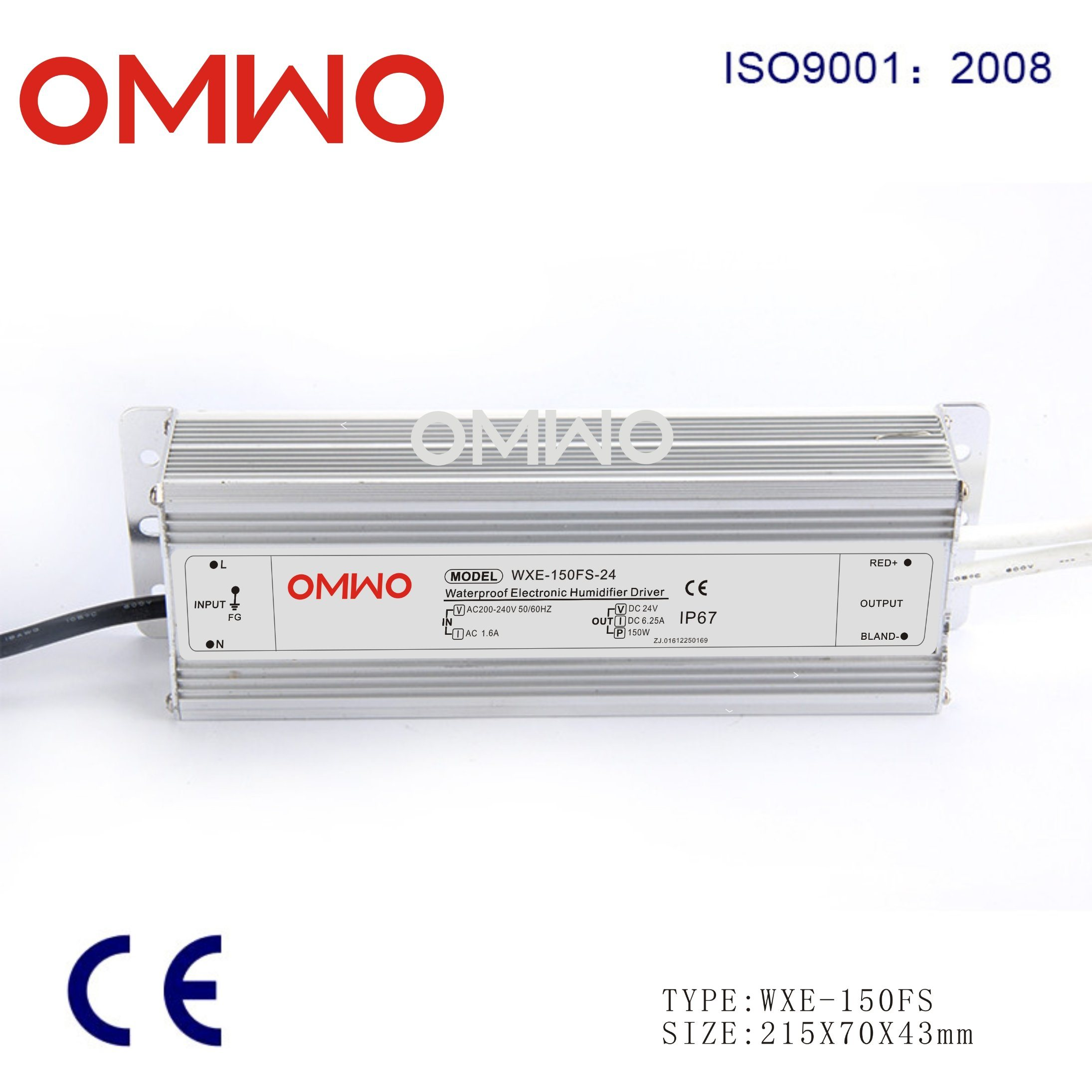 150W 2200mA Constant Current LED Driver Waterproof