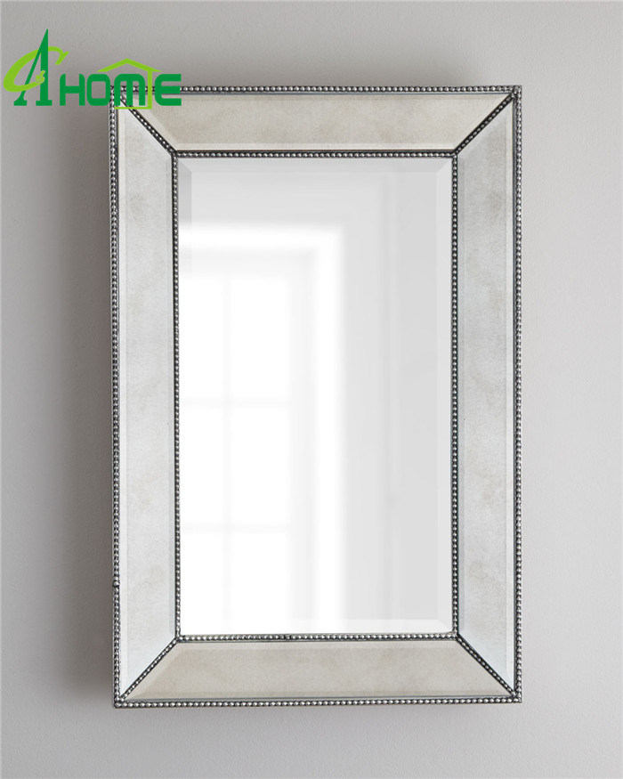 Splish Rectangle Beveled Wall Mirror