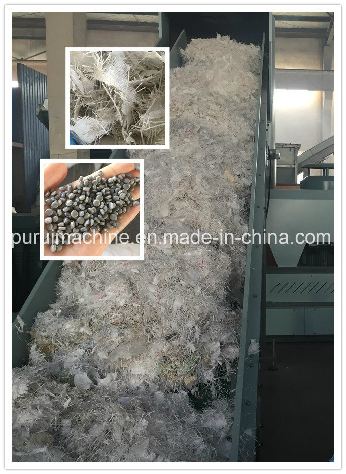 PP Non Woven Bag Plastic Machine with Vertical Die Face Hot Cutting System