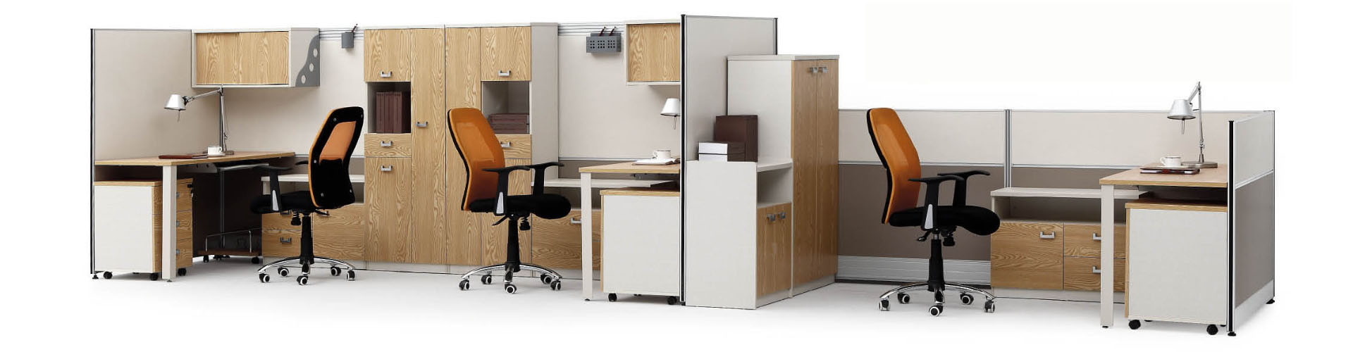 Modern Aluminum Glass Wooden Office Partition/Workstation (NS-NW009)