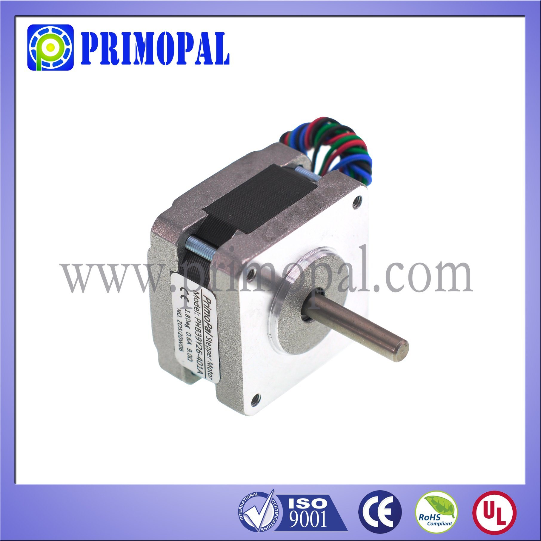2 Phase NEMA 16 High Performance Stepper Motor for Security System