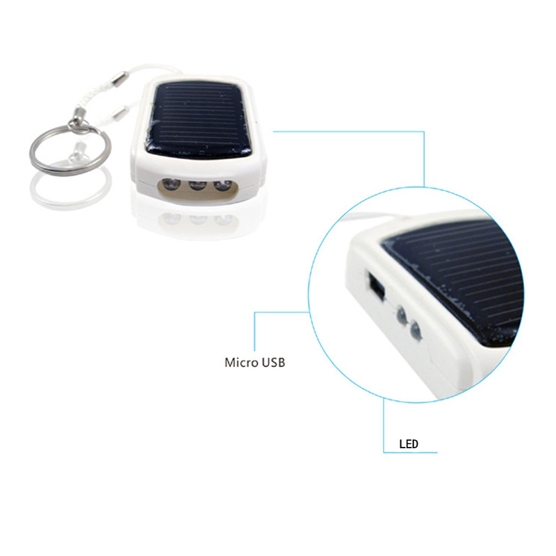 Mini Solar Charger 950mAh Power Bank with LED Lights