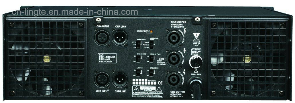 High Power Ca18 Tier 2 Professional Power Amplifier Class H Series, 2 Ohm Stable
