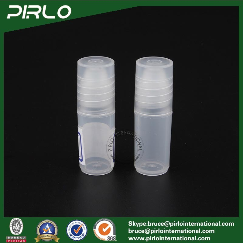 3ml Translucid Color Plastic Roll on Bottle Empty PP Plastic Cosmetic Deodorant Roll on Bottle