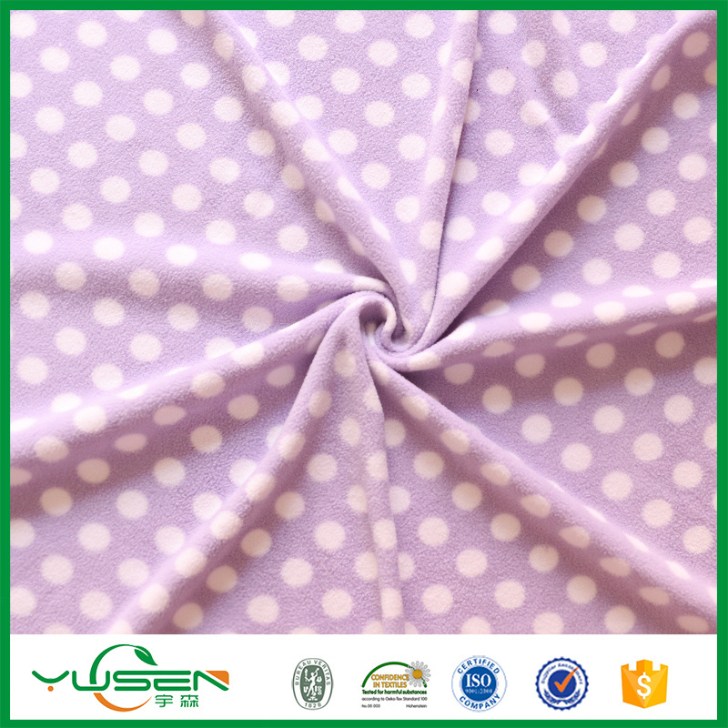 100% Polyester Recycled Polar Fleece Printed/Micro Fleece Fabric