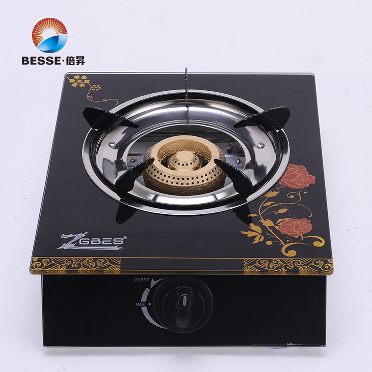 Single Burner Gas Stove, Glass Material