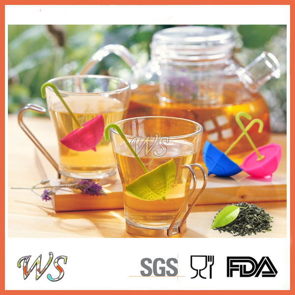 Ws-If064 Food Grade Silicone Umbrella Tea Infuser Leaf Strainer for Mug Cup, Tea Pot