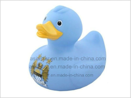 Blue Vinyl Duck with Logo Printed