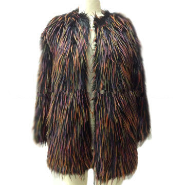 Women′s Fashion Fur Coat Ffm0230