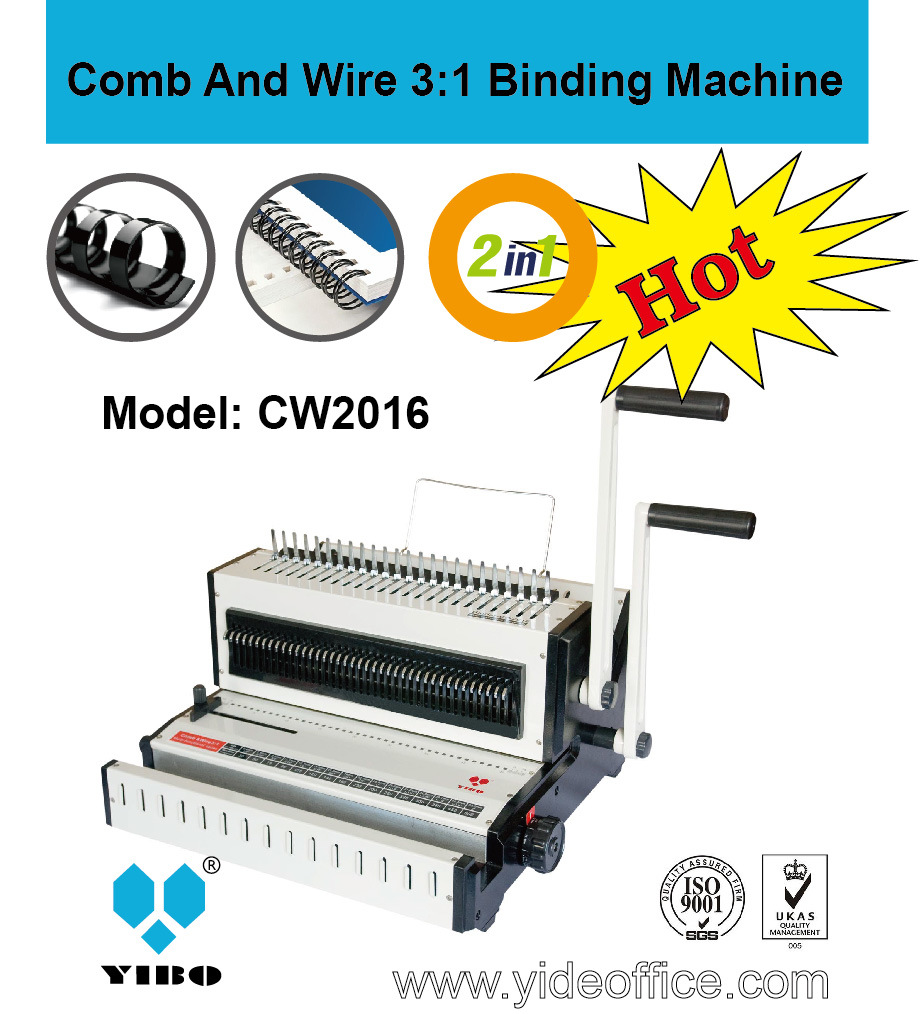 2-in-1 Manual Binding Machine for Comb and Wire (CW2016)
