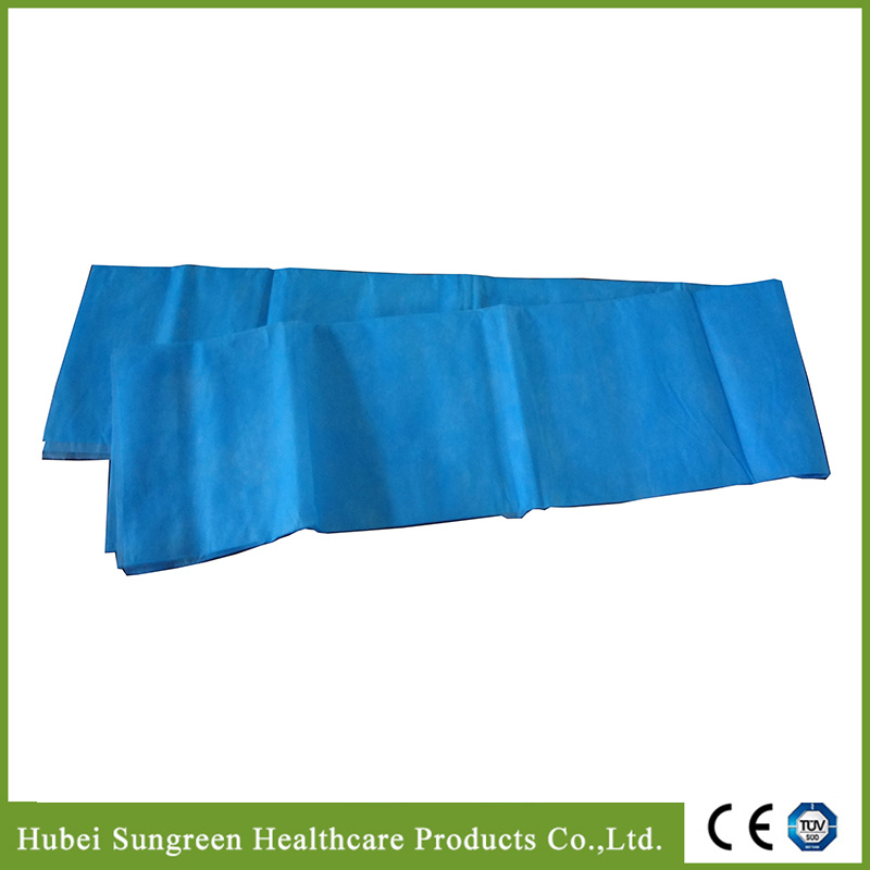 Disposable Hospital Bed Sheet in Blue Color