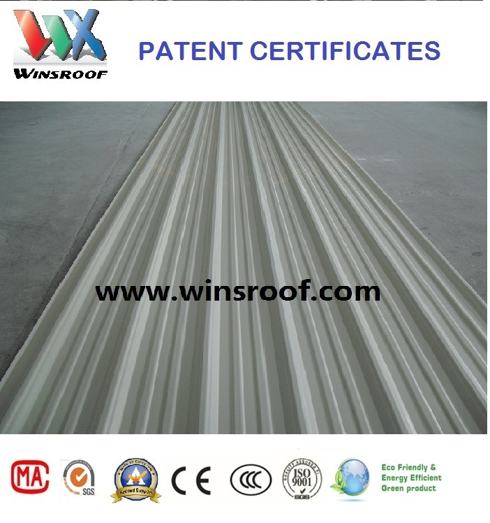 Carbon Fiber Roof Tile (UPVC tejas) Winsroof Patent Products