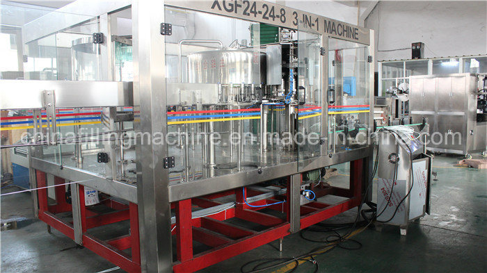 PLC Control 3-in-1 Water Filling Capping Machine for Pet Bottle
