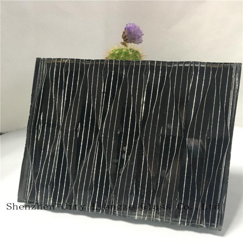 5mm+Silk+5mm Laminated Glass/Sandwich Glass/Art Glass/Safety Glass for Decoration