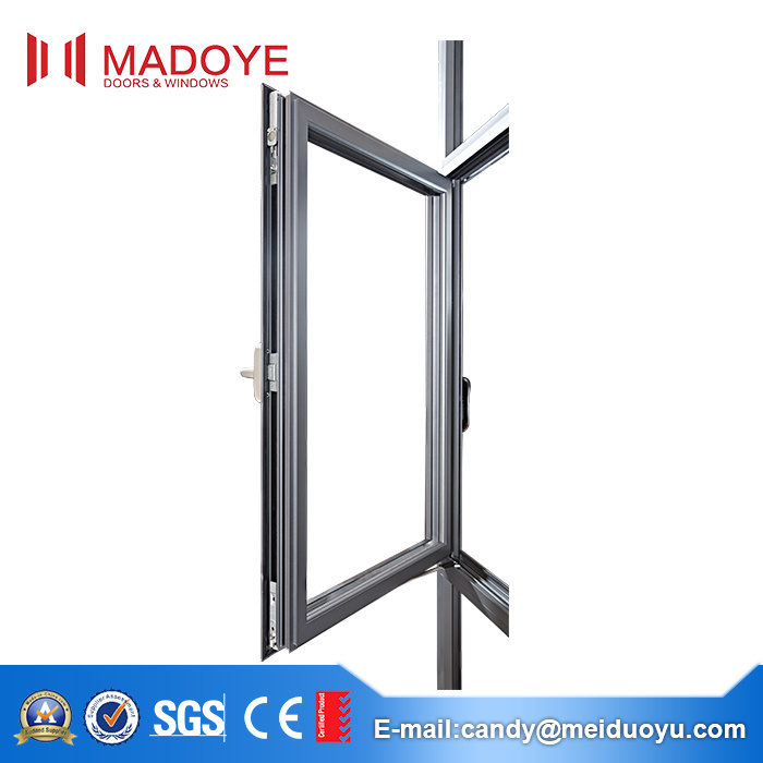 Aluminium Alloy Tempered Glass Casement Window