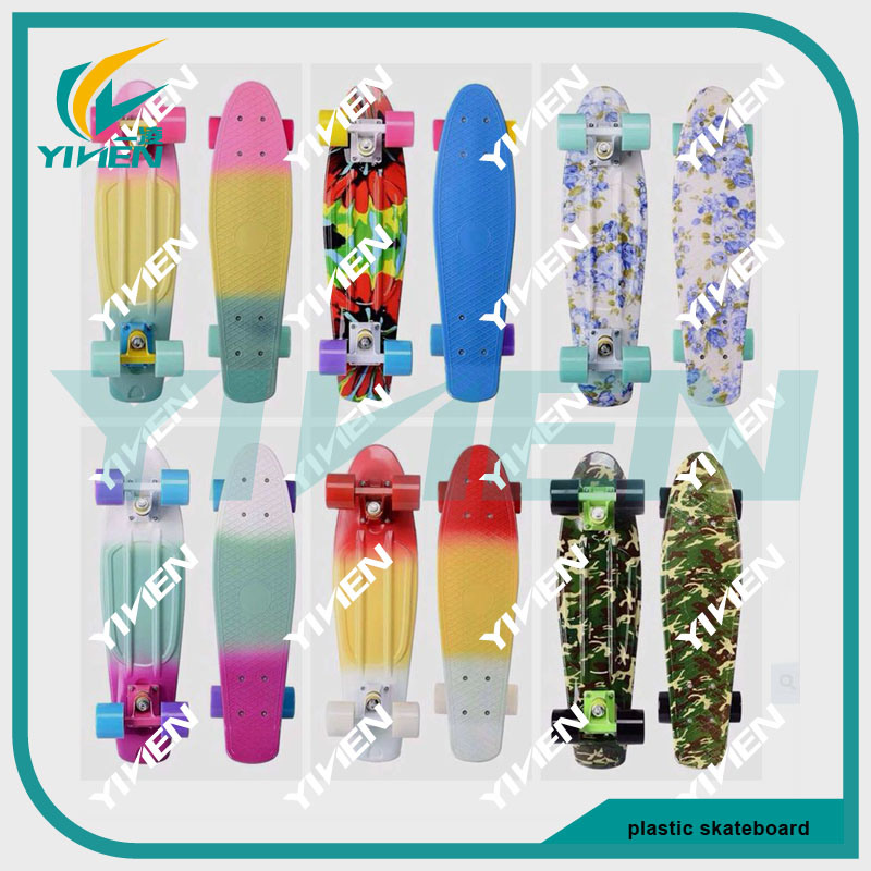 Manufacturer Rainbow Color Penny Board Plastic Skateboard with Ce Approved