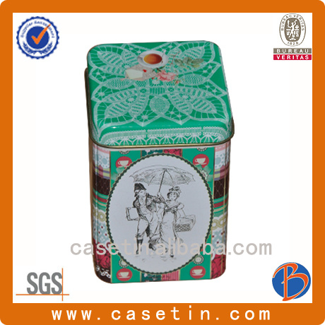 Food Grade Tinplate Rectangular Printed Tin Can