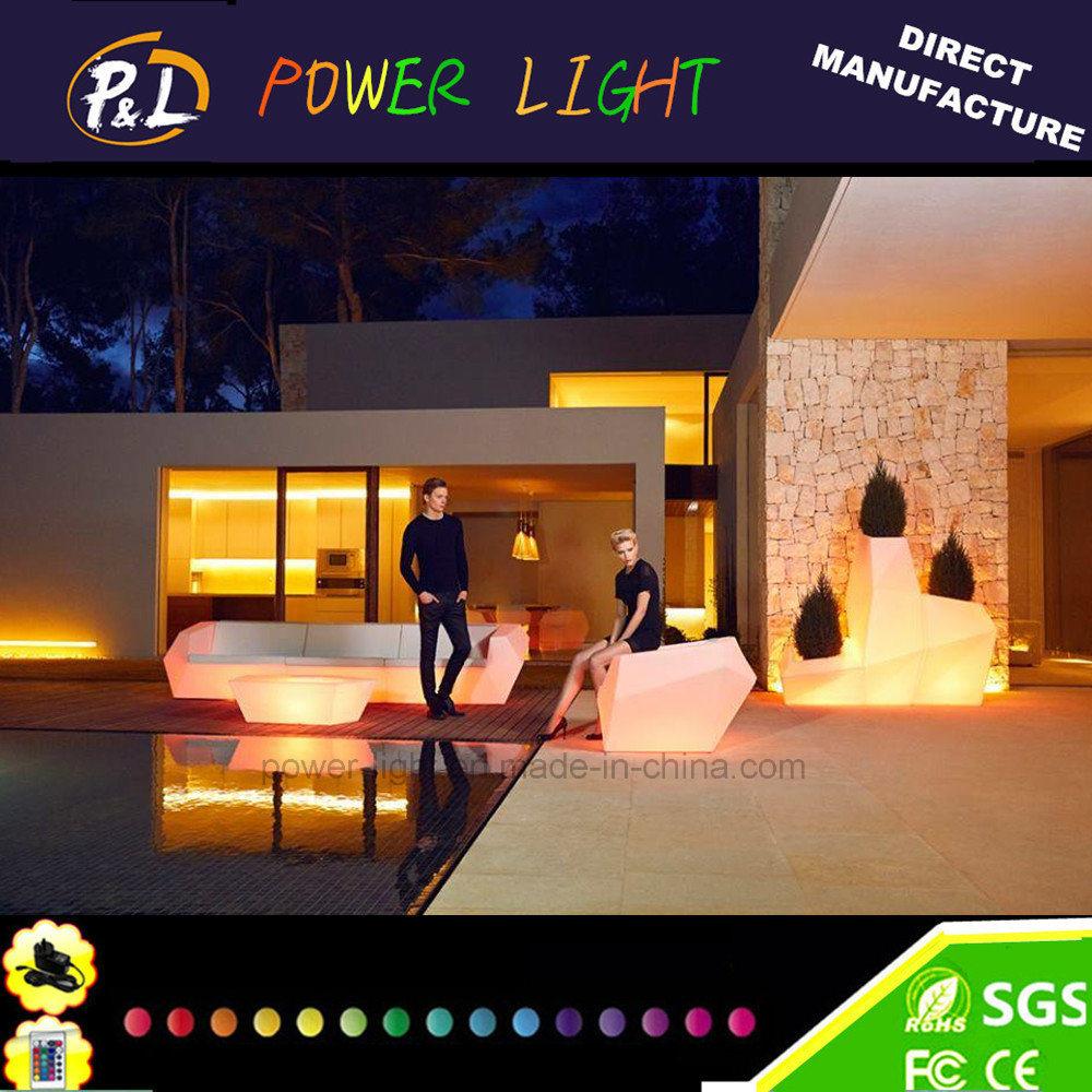 LED Glow Modern Furniture Illuminated LED Furniture for Garden Bar Outdoor Furniture