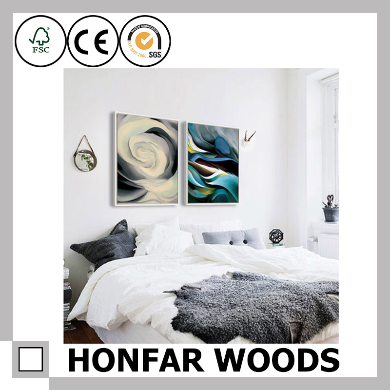 Wall Art Canvas Print Wood Picture Frame Decor
