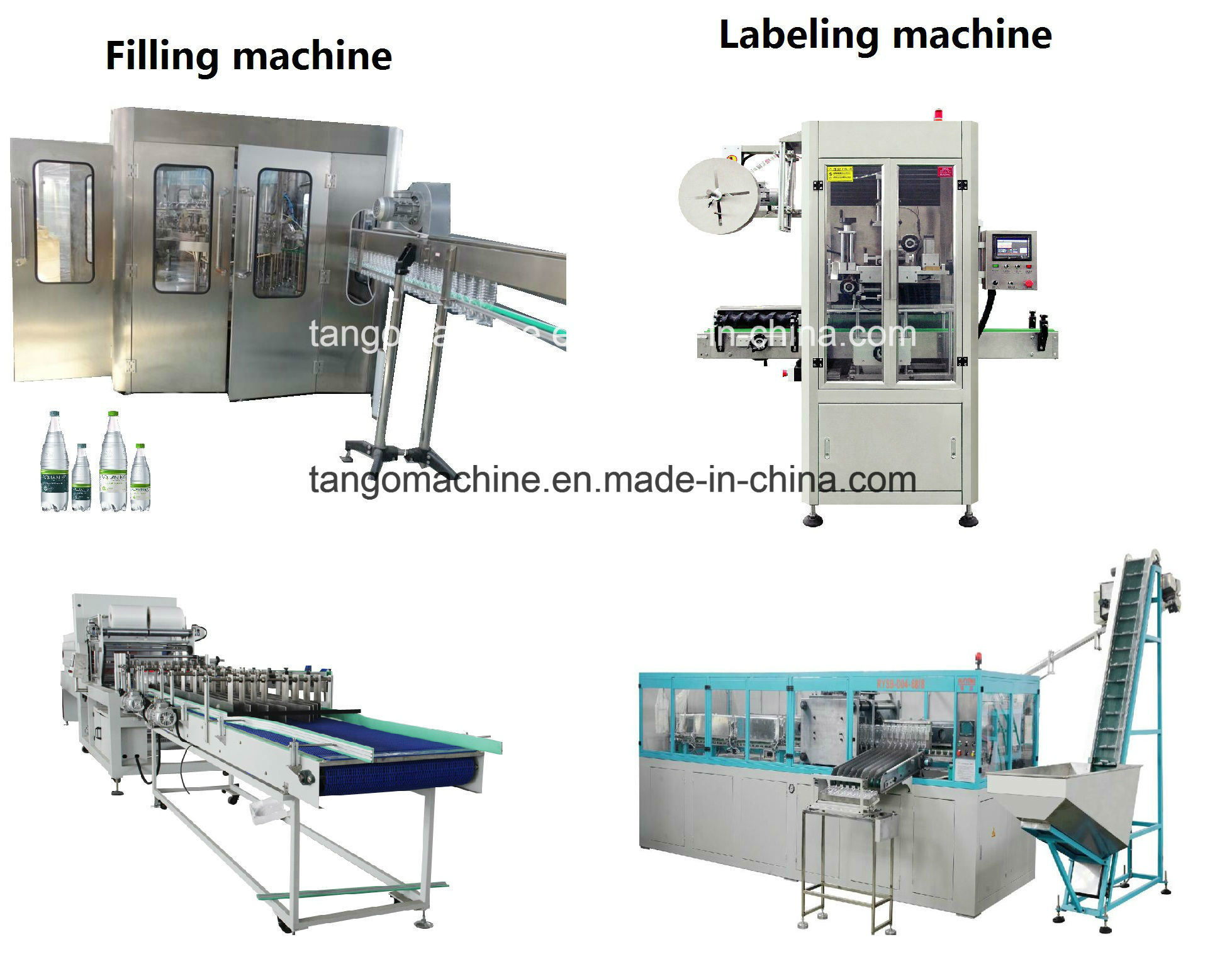 Complete Turn-Key Auto Liquid Pet Bottle Filling Water Bottling Packing Production Line