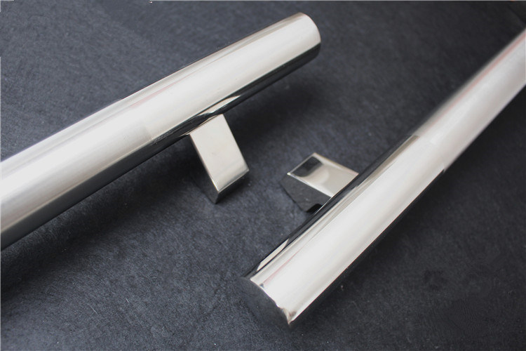Mirror Chrome Color Stainless Steel Hingesdoor Fitting Straight H Handle
