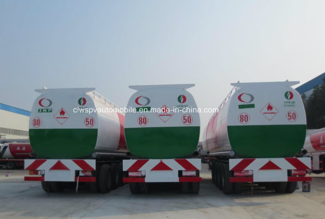 4 Axles Oil Transport Steel Fuel Tanker 60, 000 Liters Semi Trailers