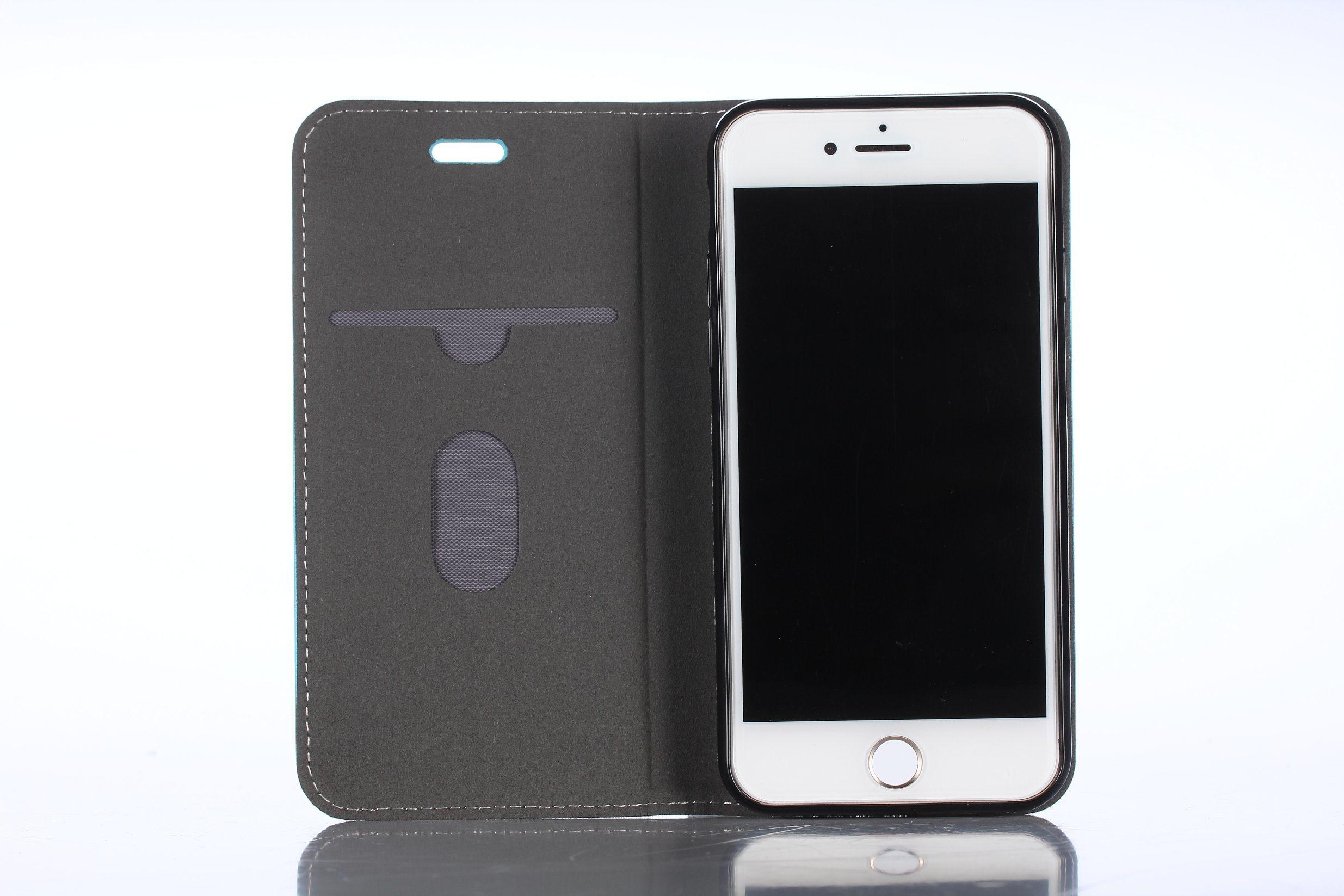 PU Flip Wristlet Wallet Case Radiation Protection Mobile Phone Shield