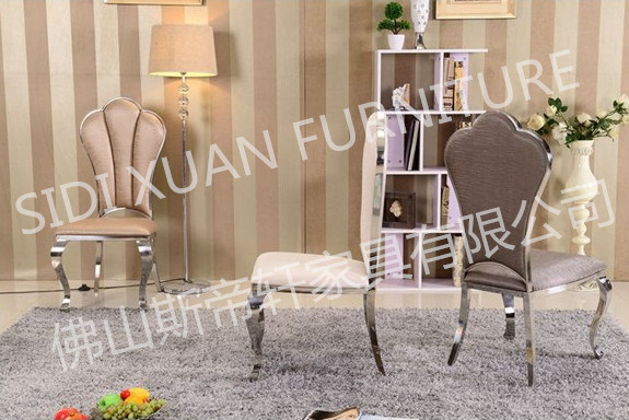 Soft PU / Leather and Stainless Steel Dining Chair Home Hotel Furniture (CY083)
