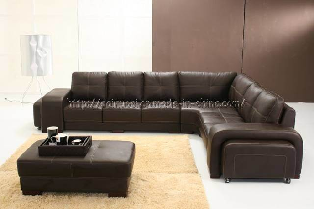 China Big Leather Corner Sofa D118 China Leather Sofa Sofa