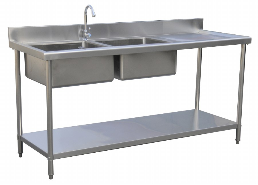 China Double Bowl Sink Table (O-ST-2D) - China Kitchen Sinks, Catering ...