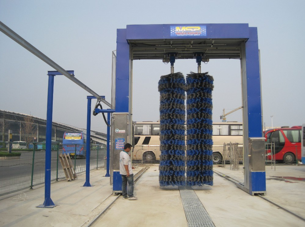 Automatic Bus Lorry Car Wash Machine Equipment System with Three Five Brushes