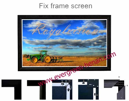 Projector Screen with Fixed Frame