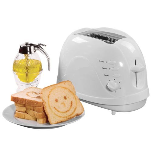 2 Slice Toaster with Detachable Logo Roasting Plate