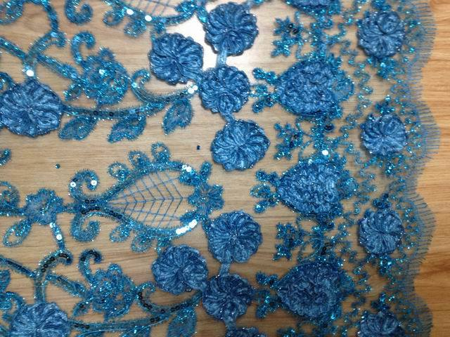 China Handwork Embroidery Fabric With 5mm Photos
