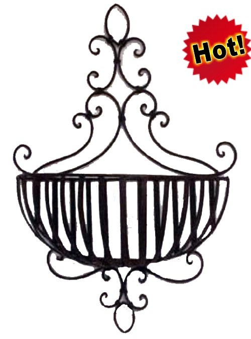 Metal Flower Hanging Baskets : China metal flower hanging baskets for garden decoration