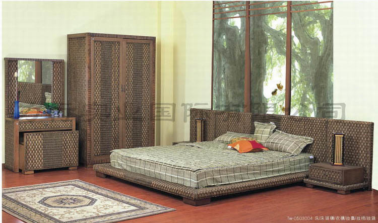 bamboo bedroom furniture sets on rattan furniture bedroom set tw 804