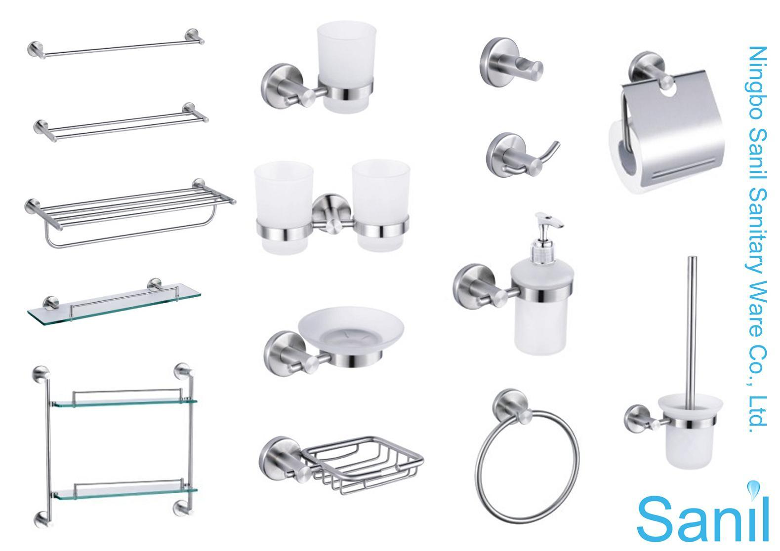 Bathroom accessory stainless steel for Bathroom fittings set