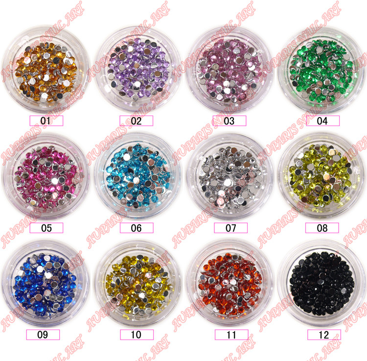 china rhinestones round professional nail art. Black Bedroom Furniture Sets. Home Design Ideas