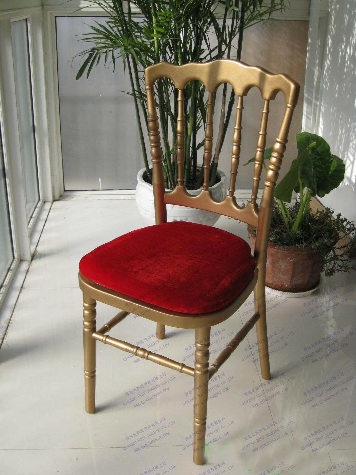 gold wedding napoleon chair with cushion china dining