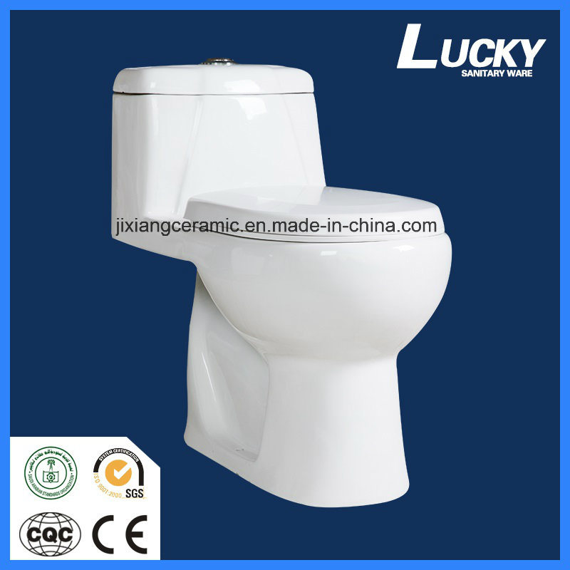 Ceramic Wc One-Piece Toilet with Saso/Ce