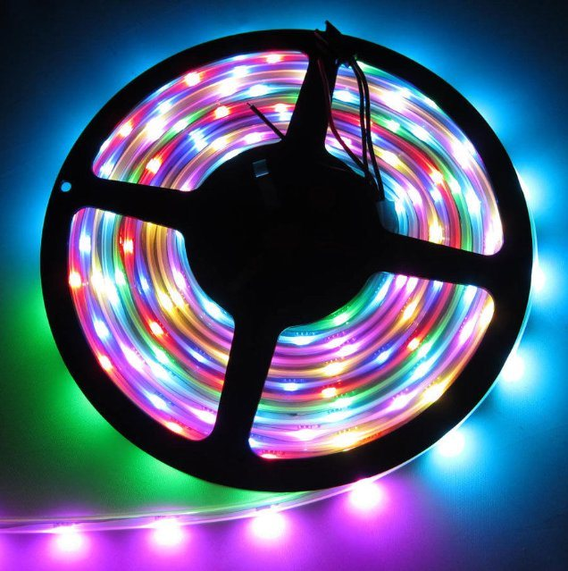 5050 SMD 30LED/M 2811IC Digital 12V Waterproof LED Flexible Strip