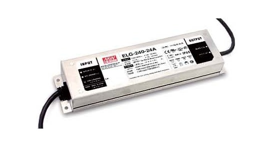 180~240W Elg-240 Constant Voltage + Constant Current LED Driver