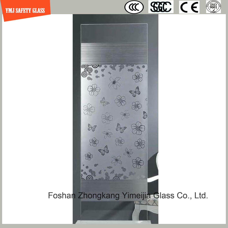 Silk Screening & Acid Etched Glass Shower Enclosure