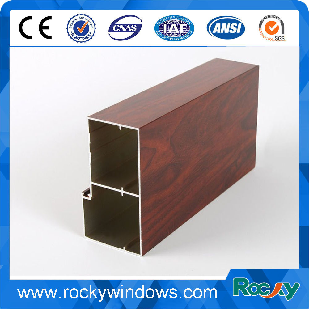 Wooden Grain Aluminum Extrusion for Window and Door