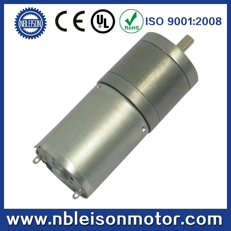 CE RoHS 25mm 12V Low Rpm DC Gear Motor