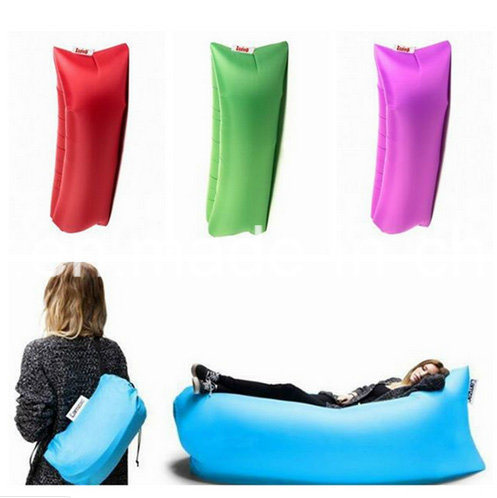 2016 New Premium Nylon Ripstop Fabric Inflatable Air Couch Lazy Hangout Sleeping Air Bag Lay Bag Inflatable Air Bed