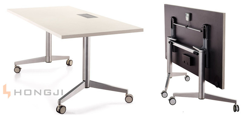 China with multi purpose socket on table top mobile office for Office folding tables